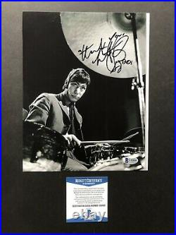 Charlie Watts autographed signed 8x10 photo Beckett BAS COA Music Rolling Stones