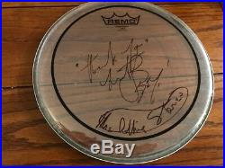 Charlie Watts signed drumhead ACOA LOA + Proof! Rolling Stones autographed