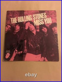 Charlie watts signed Rolling Stones 7inch