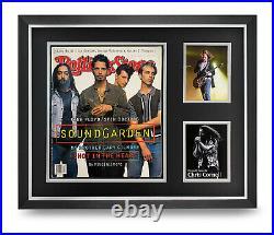 Chris Cornell Signed Rolling Stones Magazine Large Framed Soundgarden Display