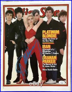 Debbie Harry autographed signed auto Blondie Rolling Stone cover 11x14 print JSA