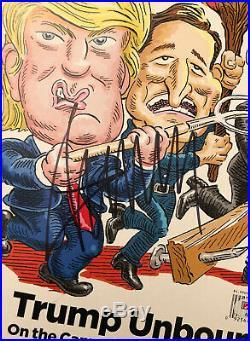 Donald Trump Signed 2016 Rolling Stones Magazine PSA# AB61608 Campaign Trail