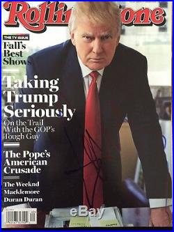 Donald Trump signed autographed Rolling Stone Magazine IN PERSON