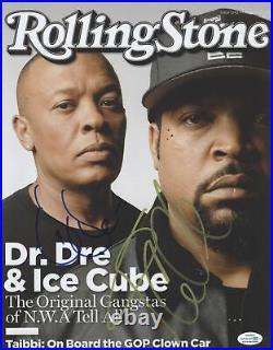 Dr. Dre Ice Cube Autographed Signed 11x14 Photo NWA Rolling Stone ACOA RACC