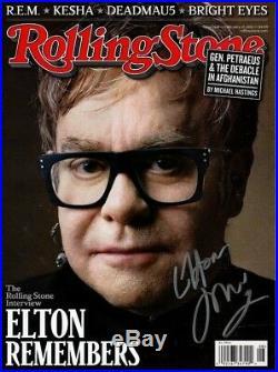 ELTON JOHN signed autographed ROLLING STONE magazine