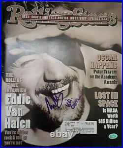 Eddie Van Halen Autographed Rolling Stone Magazine 4/6/92 Issue