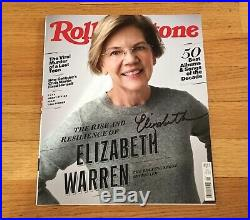 Elizabeth Warren Senator Autograph Signed Rolling Stone Magazine 2020 President