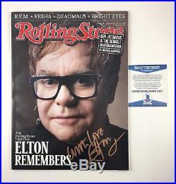 Elton John Signed Autographed Rolling Stone Magazine February 2011 Beckett COA