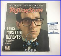 Elvis Costello Signed Autographed 1982 Rolling Stone Magazine Beckett COA
