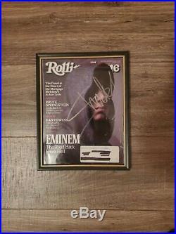 Eminem Signed Magazine Slim Shady Autograph Auto Rolling Stone HUGE FRAMED RARE