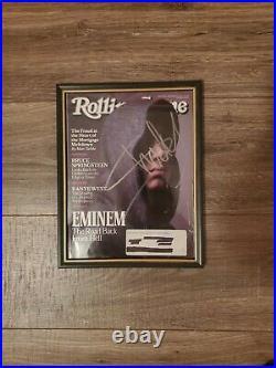 Eminem Signed Magazine Slim Shady Autograph Auto Rolling Stone HUGE RARE