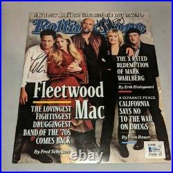 FLEETWOOD MAC signed autographed ROLLING STONE MAGAZINE BECKETT COA (BAS)
