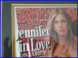 FRIENDS Jannifer Aniston autographed 18x22 Framed 1999 Rolling Stone JSA Cert