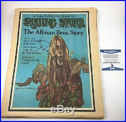 Gregg Allman Allman Brothers Rolling Stone Magazine Signed Autographed Beckett