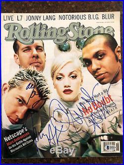 Gwen Stefani No Doubt Signed Autographed Rolling Stone Magazine Beckett BAS LOA