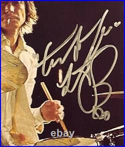 Hand Signed 10x8 photo BILL WYMAN & CHARLIE WATTS Rolling Stones RARE + my COA