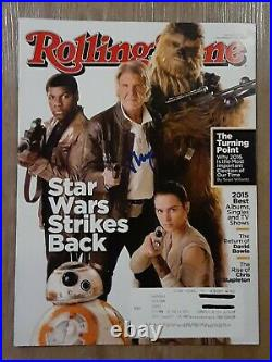 Harrison Ford Star Wars Autographed Signed December 2015 Rolling Stone Magazine