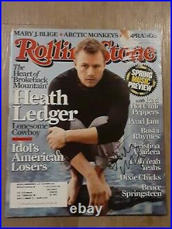 Heath Ledger Actor Autographed Signed March 2006 Rolling Stone Magazine Scarce