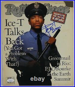 Ice T JSA Signed Autograph Rolling Stone Magazine