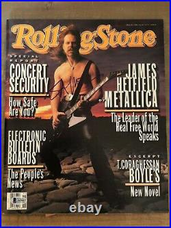James Hetfield Metallica Autographed Signed Rolling Stone 1993 Certified BAS LOA
