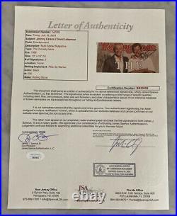Johnny Carson David Letterman Auto Autograph Signed Rolling Stones Magazine Jsa