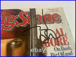 Johnny Depp Signed Autographed Guitar Rolling Stone Magazine Beckett Certified