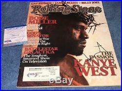 KANYE WEST Signed Autographed Rolling Stone Magazine PSA/DNA