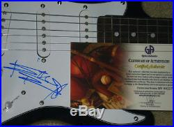 KEITH RICHARDS AUTOGRAPHED GUITAR (ROLLING STONES) With GLOBAL COA