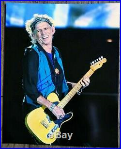 KEITH RICHARDS AUTOGRAPHED HAND SIGNED THE ROLLING STONES 8x10 PHOTO