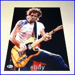 KEITH RICHARDS signed autographed 11X14 PHOTO THE ROLLING STONES BECKETT BAS LOA