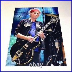 KEITH RICHARDS signed autographed 11X14 THE ROLLING STONES BECKETT LOA AA00234