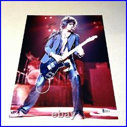 KEITH RICHARDS signed autographed 11X14 THE ROLLING STONES BECKETT LOA AA00235