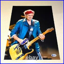 KEITH RICHARDS signed autographed 11X14 THE ROLLING STONES BECKETT LOA AA00237