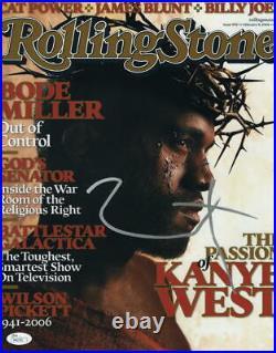Kanye West Signed Autograph 11x14 Rolling Stone Magazine Photo Graduation Jsa