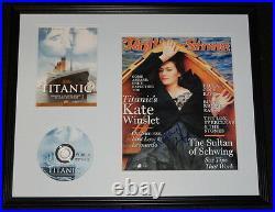 Kate Winslet Signed Framed 16x20 Rolling Stone Cover & Titanic DVD Set