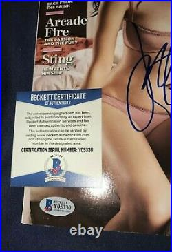 Katy Perry signed Rolling Stone magazine American Idol record album poster photo