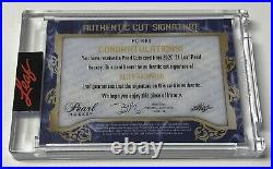 Keith Richards 2020-21 Leaf Pearl Hockey Cut Signature Auto Rolling Stones 1/2