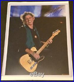Keith Richards Rolling Stones Autograph photo COA