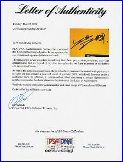 Keith Richards Rolling Stones Signed Autograph Fender Model Guitar PSA/DNA COA