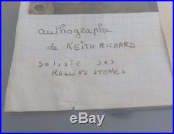 Keith Richards Rolling Stones Signed Vintage 60s Cut Beckett Certified & Slabbed