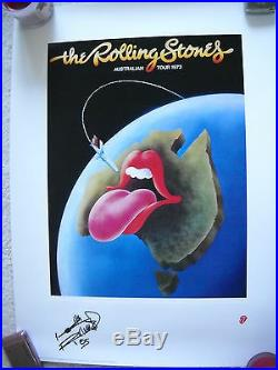 Keith Richards Signed Lithograph Proof! Rare Coa Rolling Stones Autograph #3