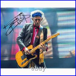 Keith Richards The Rolling Stones (87193) Authentic Autographed 8x10 + COA