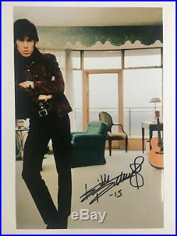 Keith Richards / The Rolling Stones Hand-signed 12x8 Photo Autograph