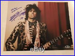 Keith Richards The Rolling Stones Signed 11x14 Photo BAS COA LOA Autograph