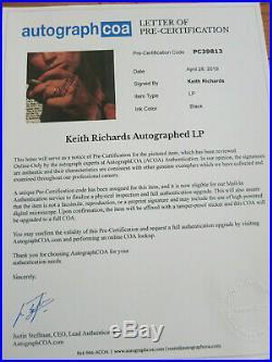 Keith Richards signed lp ACOA Proof! Rolling Stones autograph album perfect 10