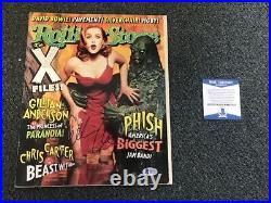 L@@k Gillian Anderson Signed Rolling Stone Autographed Auto Bas Not Psa X-files