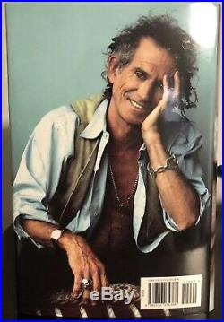 LIFE BY KEITH RICHARDS FIRST EDITION 2010- SIGNED HCDJ Rolling Stones Autograph