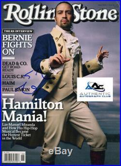 Lin Manuel Miranda Autograph Signed Rolling Stones Magazine Hamilton Coa