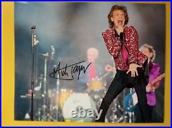 MICK JAGGER Hand Signed Photo Autograph 10 X 8 The Rolling Stones Singer