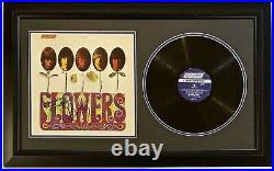 MICK JAGGER & KEITH RICHARDS Autographed ALBUM FRAMED ROLLING STONES FLOWERS